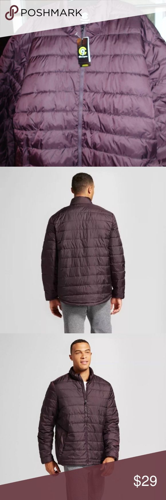 Mens Puffer Jacket NWT c9 Champion Mens Puffer Lightweight Jacket NWT Some ppl say it Purple in color others say its brown so I put both... It's new and still wrapped in plastic. Champion Jackets & Coats Puffers