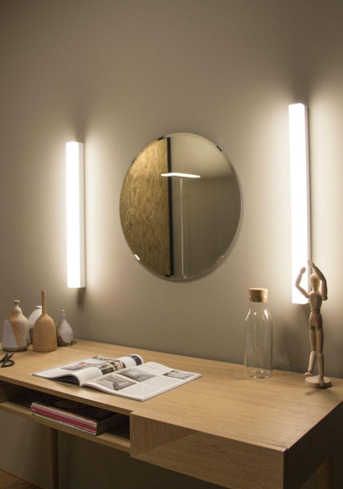 LineaLight Kioo lampada da parete a LED in alluminio nel