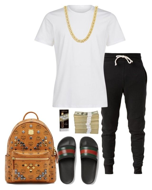"""Untitled #35"" by madcowmc on Polyvore featuring John Elliott, Gucci, La Perla, MCM, men's fashion and menswear"