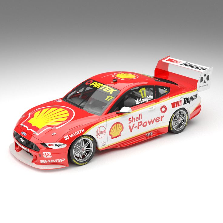 1:18 Shell V-Power Racing Team #17 Ford Mustang GT Supercar - v8 supercars