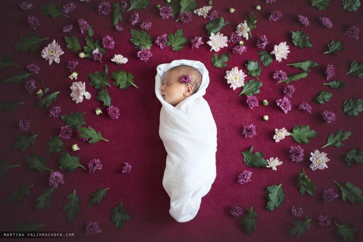Pavlinka - Baby girl is sleeping among the flowers
