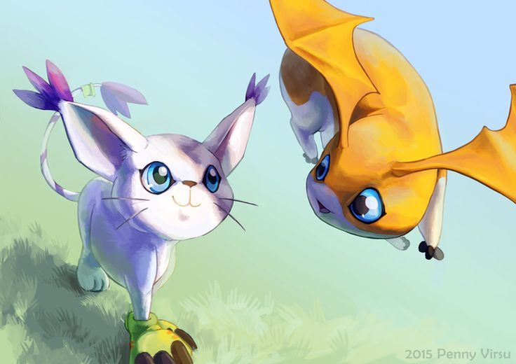 Gatomon And Patamon Gatomon y Patam...