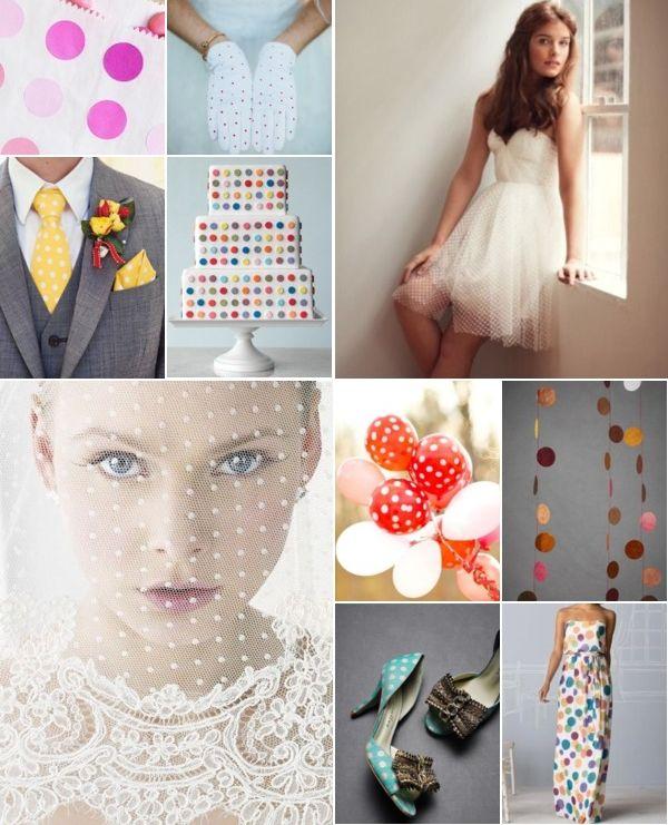 Свадьба в горошек - идеи для свадьбы в горошек