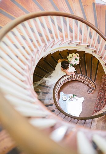 Charleston-Inspired Tips to Make Your Destination Wedding #1 by PPHG Events | The Lowndes Grove Plantation stairwell | Photo by Britt Croft