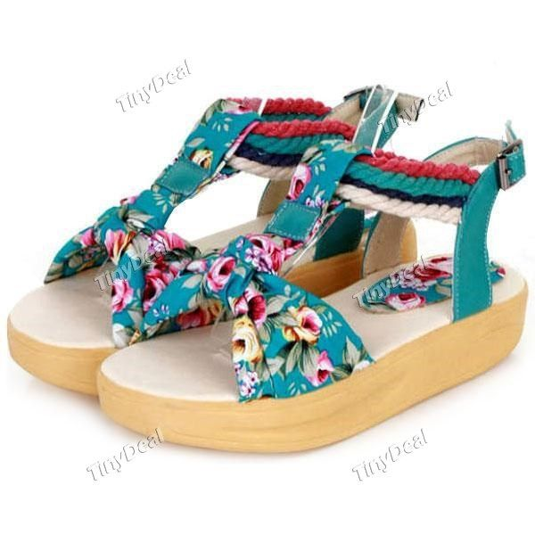 Casual Cotton Floral Printing Rubber Band Women's Shoes Pumps