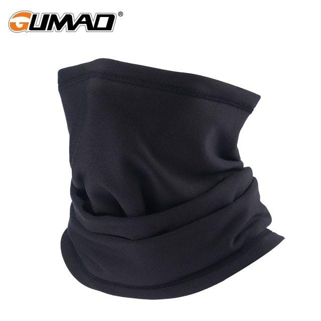 Black Winter Fleece Motor cycle Neck Tube Bike Helmet Neck Warmer Thermal Scarf