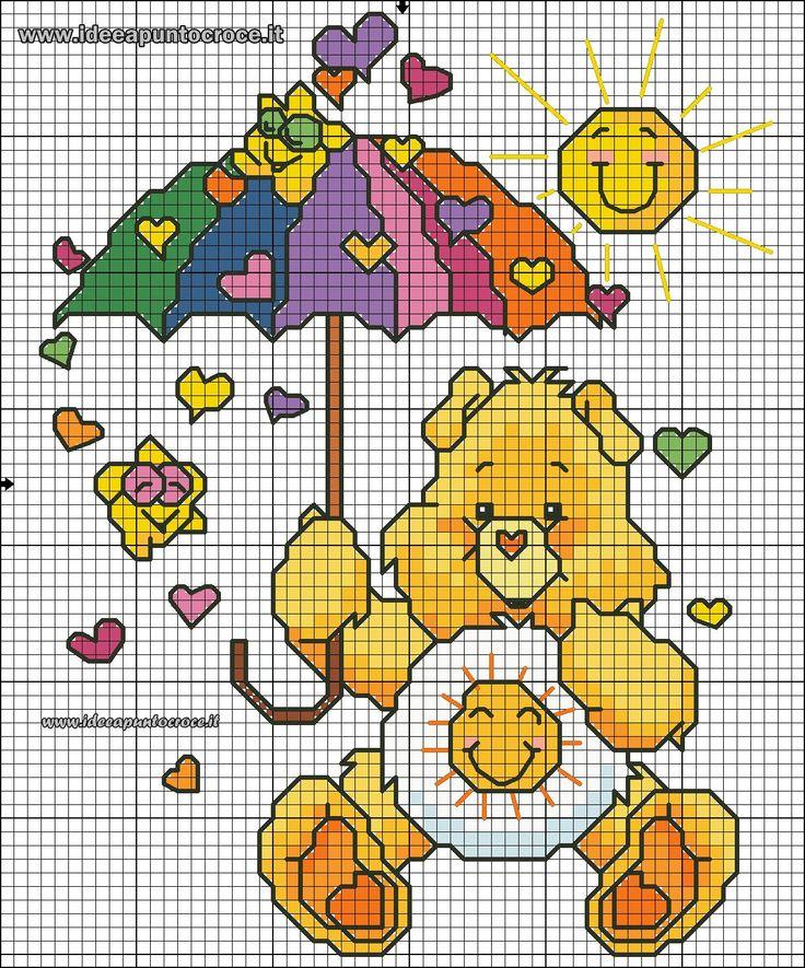 13 best schemi orsetti del cuore images on pinterest for Orsetti a punto croce schemi