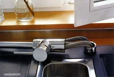 Hansgrohe Talis S Variarc 14877 800 kihúzható zuhanyfejes mosogató csaptelep (14877800) Rozsdamentes acél hatású Konyhai csaptelep kihúzható zuhanyfejjel bekötőcsövek ⅜'' QuickClean ...