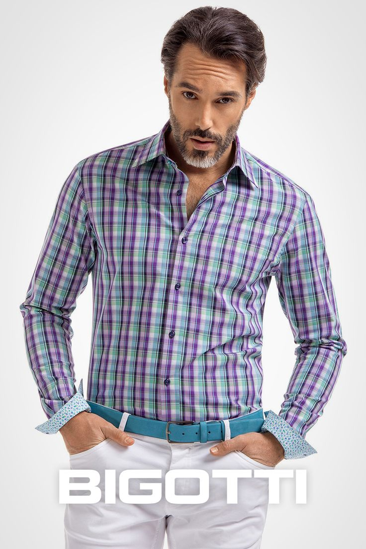 The #plaid #shirt – #one of the #best #summer #pieces 40% OFF in #Bigotti #men #clothing #stores and on https://www.bigotti.ro/camasi-barbati