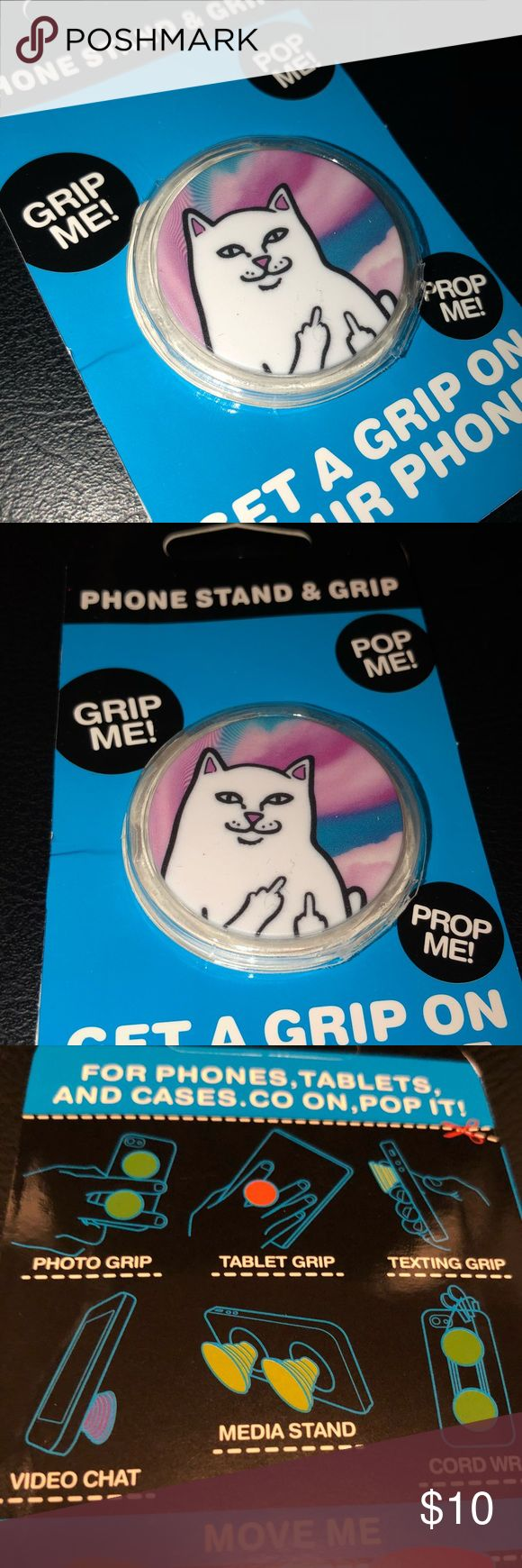 Cool Cat Popsocket The Popsocket! Perfect to use as a grip for any device such as phones and tablets. We are open to negotiations and reasonable offers! ‼️Buy 2 and get 1 free‼️ Checkout my closet for more designs! Accessories