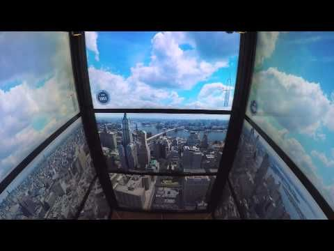 The elevators to the 1WTC observatory show a cool time lapse of NYC's development, from 1500 to the present