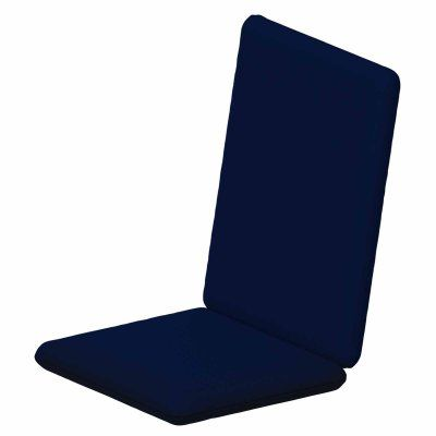POLYWOOD® Sunbrella 36.25 x 17.25 in. Hinged Bar Stool Cushion Sunbrella Navy - XPWF0030-5439