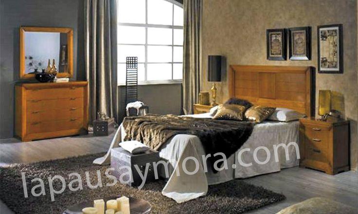 Mueble de dormitorio de Lapausa y Mora, colección Giorno. Composición 01 con acabado en Cerezo envejezido (29).