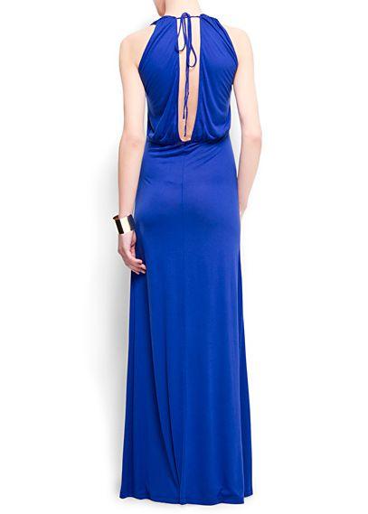 Lange jurk met laag uitgesneden rug