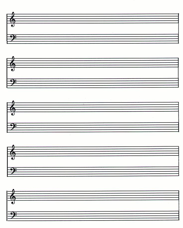 Sheet Music Template Violinlessonsforkids