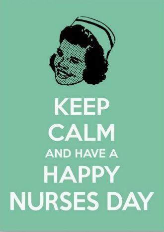 Happy nurses day! Trots dat ook ik me over een paar maanden (als het goed is..) verpleegkundige mag noemen (: