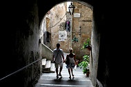the medieval town of pitigliano italy has a long and storied history of jewish history, if you go and you should the, the article list the local organization that supports the tiny community, use goole translate to to get a feel and make a donation to this lovely organization keeping italian jewish history alive