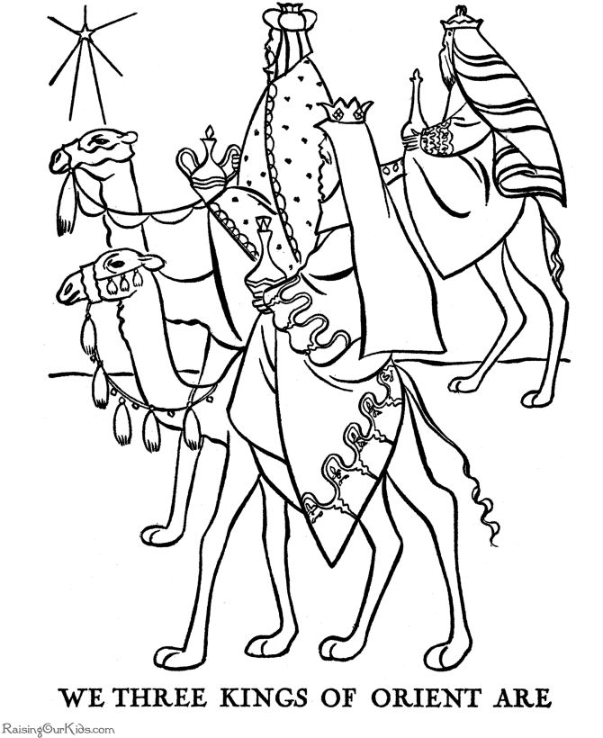 the three wisemen coloring pages religious christmas