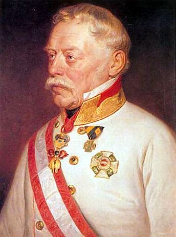 Joseph Radetzky von Radetz was a Czech nobleman and Austrian general, immortalised by Johann Strauss I's Radetzky March. General Radetzky was in the military for over 70 years to the age of 90, almost up to his death at age 91, and is known for the victories at the Battles of Custoza (24–25 July 1848) and Novara (23 March 1849) during the First Italian War of Independence.