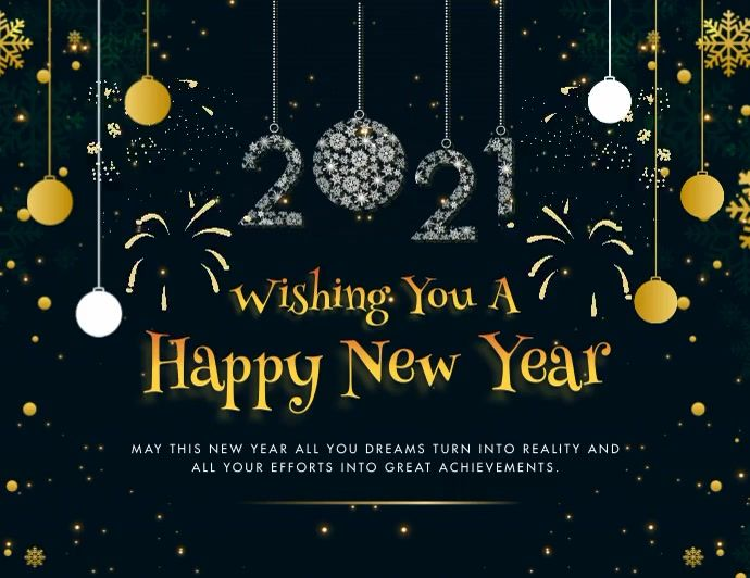 Happy New Year 2021 Greeting Card Animated In 2021 Party Invite Template Animated Invitations New Year Banner