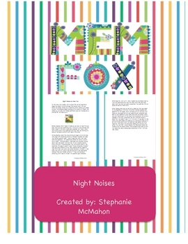 9 best night noises images on pinterest children books kid books night noises by mem fox lesson publicscrutiny Image collections