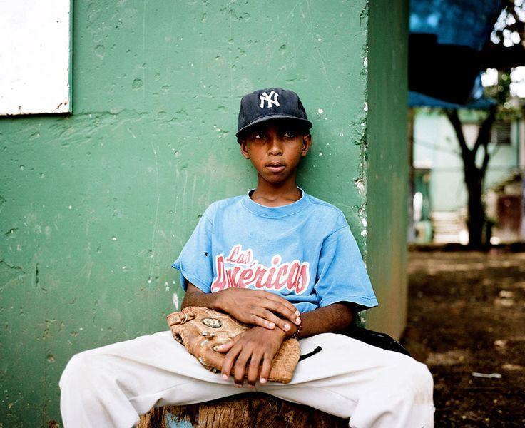 Santo Domingo, Dominican Republic. A portrait of a young pitcher in Santo Domingo. Michael Hanson