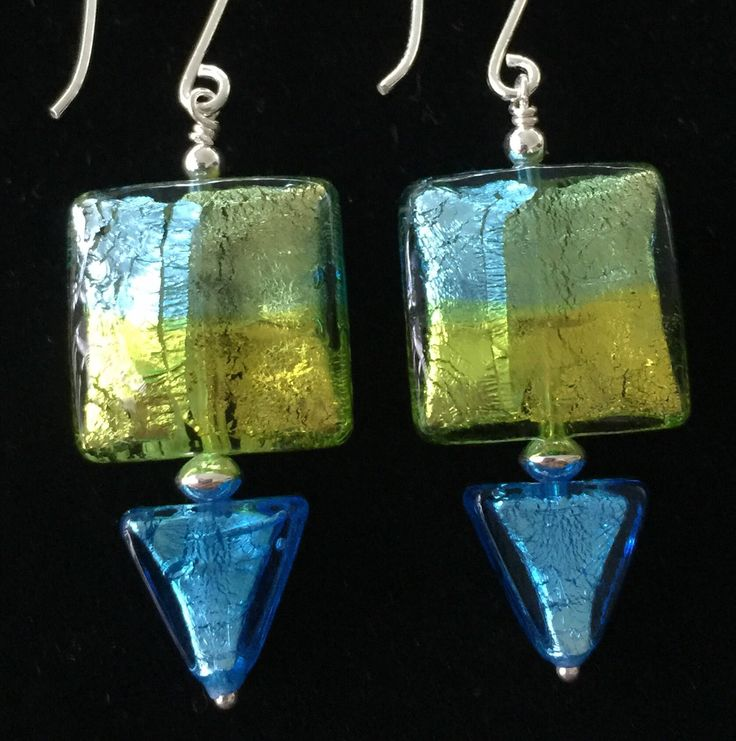A personal favourite from my Etsy shop https://www.etsy.com/au/listing/553600388/large-velo-square-murano-glass-dangle