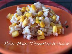 Rezept für einen leichten Reis Mais Thunfisch Salat. Ideal für Sommerpartys oder zum Grillen. Leicht und schnell gemacht.