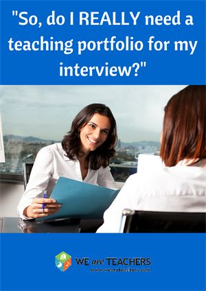 Advice on teaching portfolios from other teachers