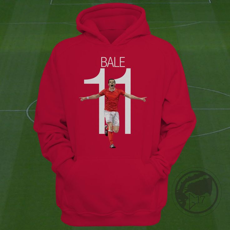 Wales Gareth Bale Hoodie - Wales Soccer Sweatshirt Custom Apparel Football, futbol, soccer, madrid, Bale swetaer, bale clothing by Graphics17 on Etsy