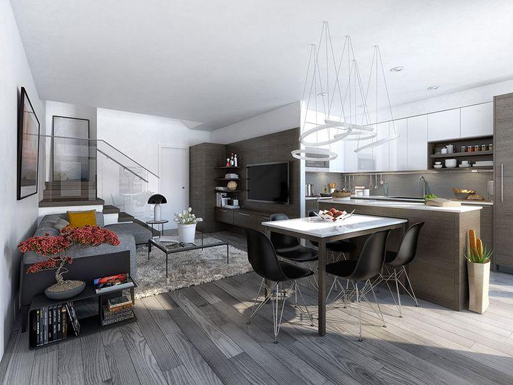 Arredare un open space cucina soggiorno moderno 05