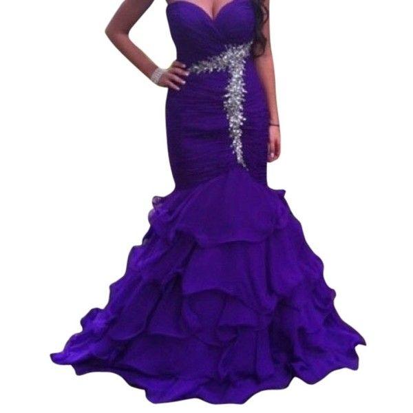 Pre-owned Camille La Vie Purple Dress ($113) ❤ liked on Polyvore featuring dresses, petite, purple, purple dress, pre owned dresses, purple prom dresses, petite prom dresses y cocktail prom dress