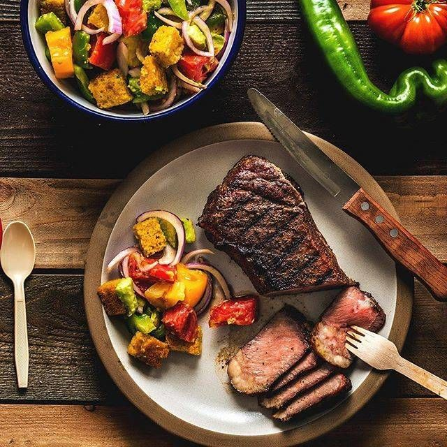 Grilled Porterhouse Steak with Creamed Greens Recipe | Traeger Wood Fired Grills