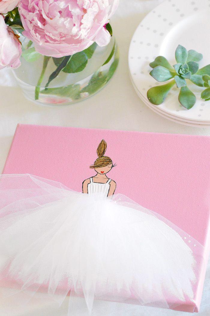 Best 25 tutu party theme ideas on pinterest baby shower for Ballerina wall mural