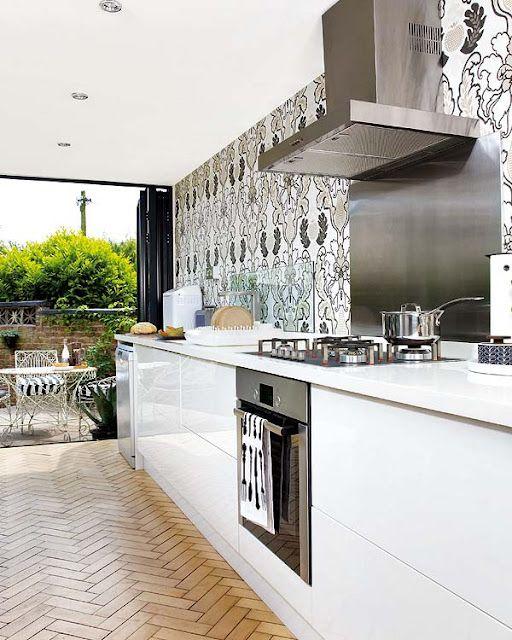 Decora��o de Cozinhas Brancas Modernas! Com Ilha e Americana!!!