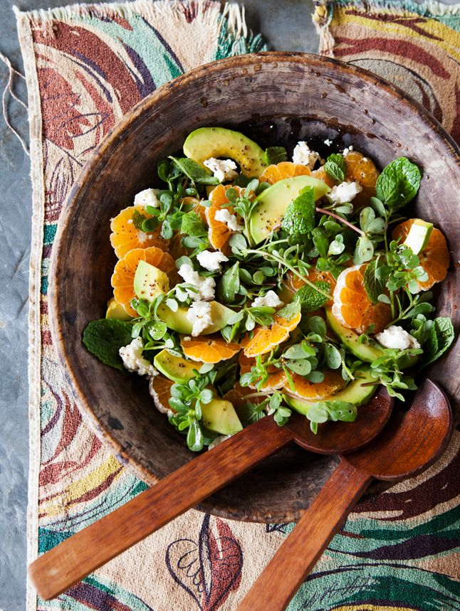 Avocado and Tangerine Salad with Jalapeno Vinaigrette @Salt Studio NYC #saltstudioslc