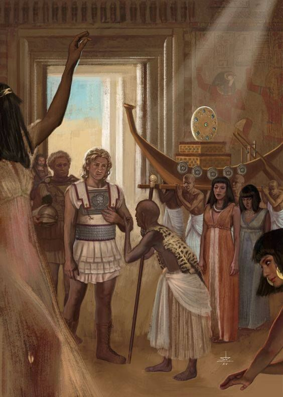 Alexander the Great at the Oracle of Ammon