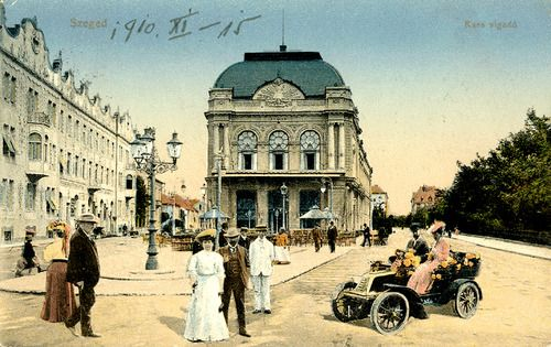 I was here as a 15 year old circa; 67birthplace of my adopted father. Postcard depicting Szeged, Hungary, 1910