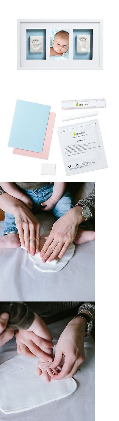Handprint Kits 162037: Pearhead Newborn Baby Handprint And Footprint Deluxe Photo Frame And Impression -> BUY IT NOW ONLY: $36.88 on eBay!
