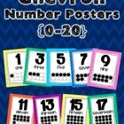 These colorful Chevron Number Posters (0-20) will brighten any classroom! Each poster has the number, number name, and the number represented in a ...