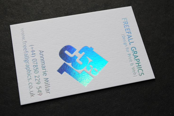 Pristine white colorplan business cards printed with for Iridescent business cards