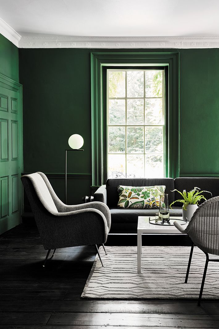 Puck Living Space Living Room Green Living Room Color Dark Green Living Room #paints #for #living #room #pictures