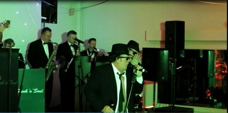Age UK Coventry Dementia Charity Gig Funk'N'Soul with Jake & Elwood Blues. 14 piece band.
