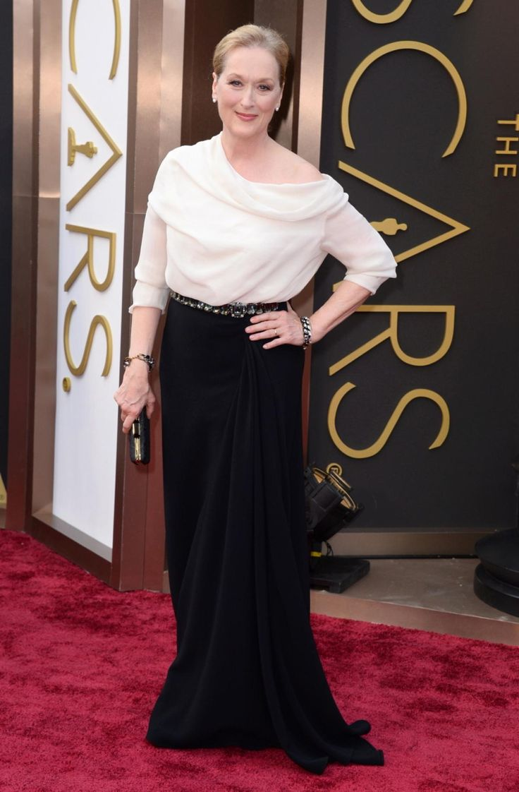 Meryl Streep has been nominated for an Oscar an astonishing 18 times -- and her red carpet style only keeps getting better. The legendary actress wore black and white Lanvin to the 2014 Academy Awards, where she was up for Best Actress.