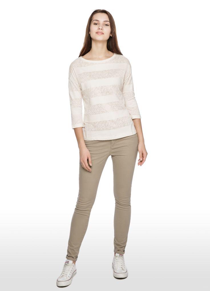 Купить ХЛОПКОВЫЕ БРЮКИ 5 КАРМАНОВ (LP4O42) в интернет-магазине одежды O'STIN