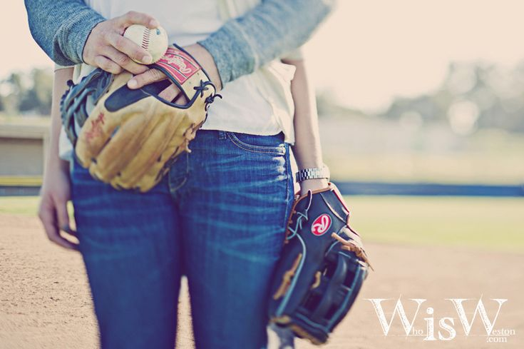 Baseball themed engagement or just a really cute couples photo
