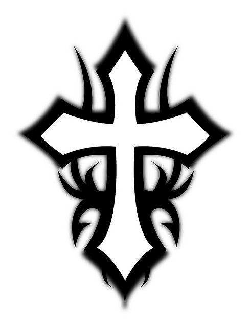 tribal cross tattoos | Pok Tattoo Dewe: tribal cross tattoo designs 2012