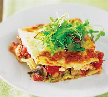 Lazy vegetarian lasagne
