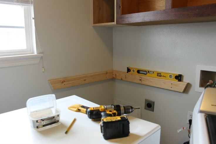 how to add a folding table to your laundry room