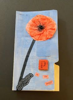 ONTeachers: P is for Poppy - Remembrance Day art www.onteachers.ca is an educational resource site for Ontario teachers, by Ontario teachers.